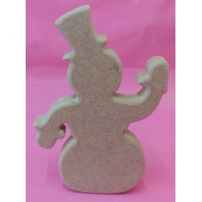 18mm Thick MDF Standing Snowman150mm tall