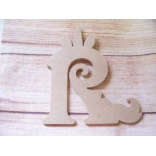4mm MDF Unicorn Letter 150mm