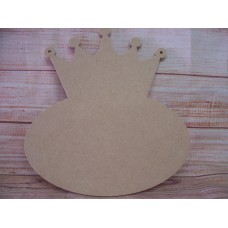 4mm MDF Crown Plaque 200mm