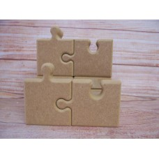 18mm  Free standing joining Jigsaw Puzzle pieces 150mm tall