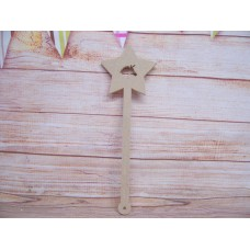 6mm MDF Unicorn star wand