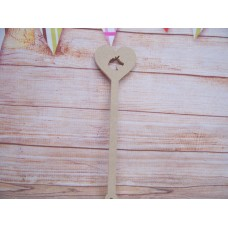 6mm MDF Unicorn heart wand