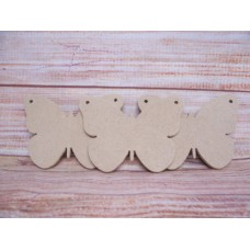 4mm MDF Butterfly 200mm Pack of  3