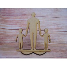 Dad/Grandad Plaque with two Boys 3mm MDF