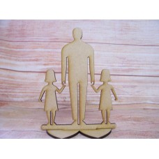 Dad/ Grandad Plaque with two Girls