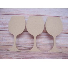 4mm  MDF Wine Glass 150mm tall  pack of 3