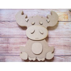 18mm MDF 3D Moose 200mm tall