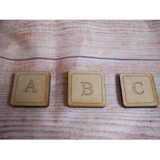 Laser Cut Letter Tiles 30mm