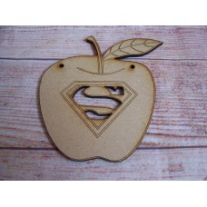 laser Cut Super Teacher Apple 100mm