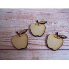 Laser cut 30mm Apple/Apples pack of 20