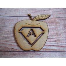 Laser Cut Apple with letter 75mm
