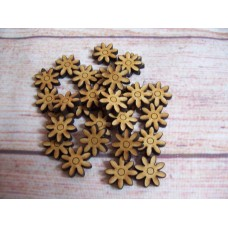 Laser cut Daisy 15mm Pack of 50
