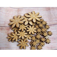 LaserCut Daisy Mixed size Pack of 50