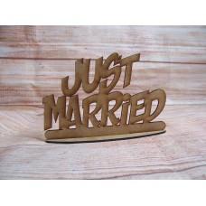 Freestanding Just Married Plaque