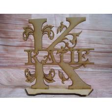 Laser Cut Standing Monogram Letters