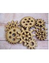 3mm Laser cut assorted cogs pack of 10