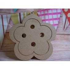 4mm MDF Button daisy shape
