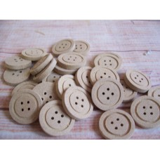 4mm MDF Button 25mm