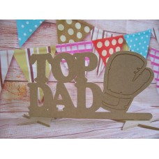 4mm MDF Top Dad Boxing Glove