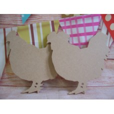 4mm MDF Hen/Chicken  150mm