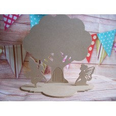 4mm  MDF Tree Fairy door with fairies