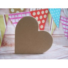 12mm  MDF  Side standing Heart 100mm size pack of 3