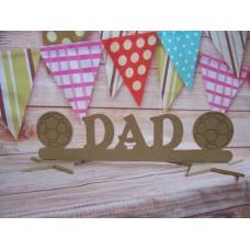 MDF Dad football plaque