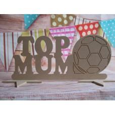 Top Mum football plaque
