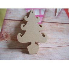 4mm Thick MDF Christmas trees 100mm Pack of 5