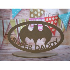 Large size super daddy bat plaque