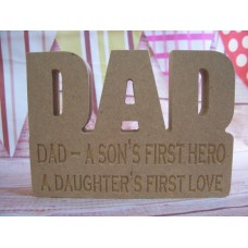 18mm MDF Dad Plaque Dad A Son'sFirst