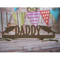 MDF Daddy Fish plaque