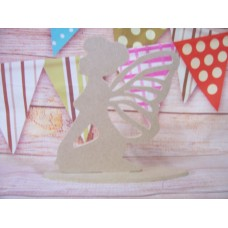 4mm MDF Sitting fairy with butterfly wings