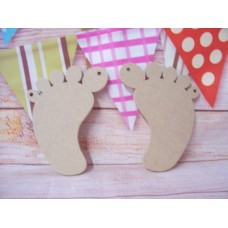 4mm MDF  Baby Feet /Foot