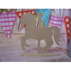 4mm  MDF Merry go round Horse on a base