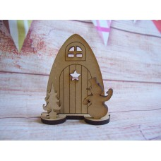 MDF Mini Christmas fairy Door 60mm
