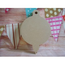 4mm Thick MDF Shaped bauble with loop