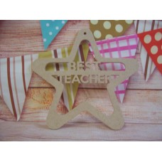4mm Hanging  Best Teacher star 200mm wide