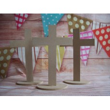 MDF Crosses on base pack of 3