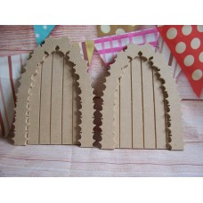 4mm MDF holly arch grooved fairy door pack of 4
