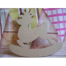 4mm MDF  Rocking reindeer 150mm