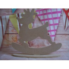 4mm MDF Reindeer On a base 150mm