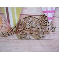Laser Cut Geometric Triceratops 150mm
