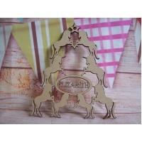 Personalised Unicorn Christmas tree shape 150mm D1