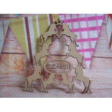 Personalised Unicorn Christmas tree shape 150mm D1