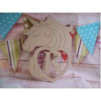 Large Personalised unicorn plaque 270mm