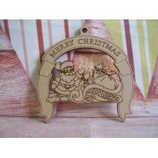 Laser Cut Santa plaque 100mm D2