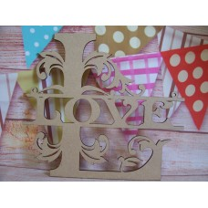 Monogram Love word 150mm