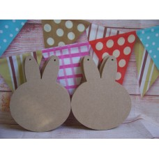 4mm MDF Rabbit head 150mm in size pack of 3