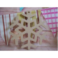 4mm MDF Snowflake With loop starts at 100mm